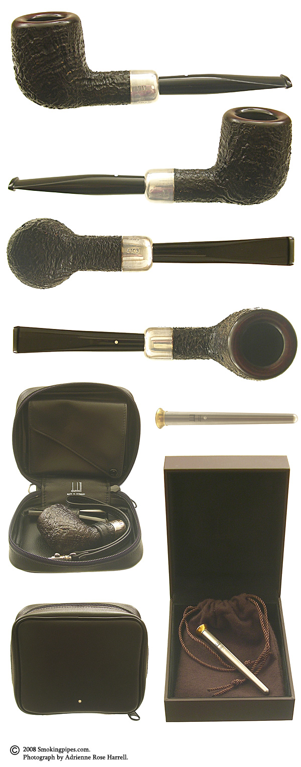 Dunhill Shell Briar (4103) with Silver Army Mount, Tamper and Carrying Case