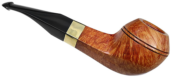 Peterson Sherlock Holmes Smooth Hudson with Gold Band P-Lip