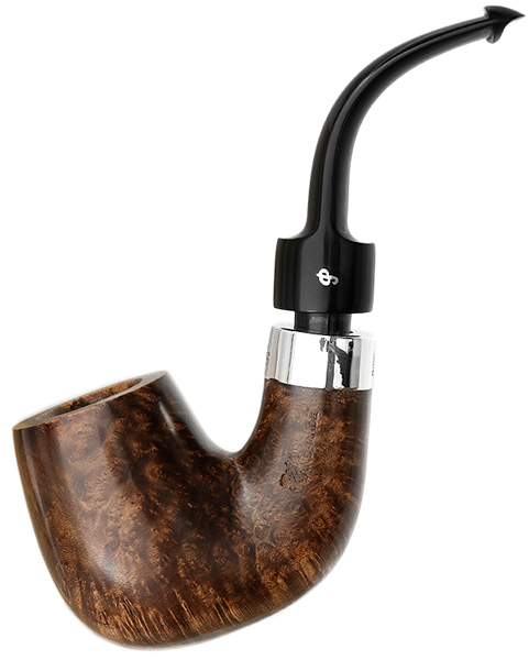 Peterson House Pipe Bent Billiard Oak P-Lip