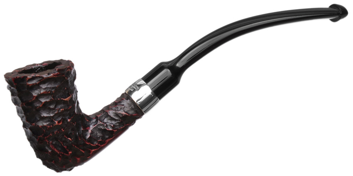 Peterson Speciality Rusticated Nickel Mounted Calabash Fishtail