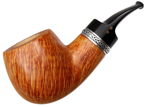 Radice Clear Aero Reverse Calabash Bent Apple with Silver and Tamper (F) (Special) (with Oak Case)
