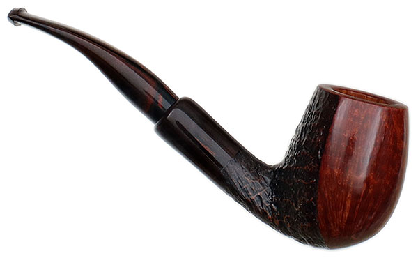 Savinelli Autograph Autograph Partially Sandblasted Bent Billiard (6mm)