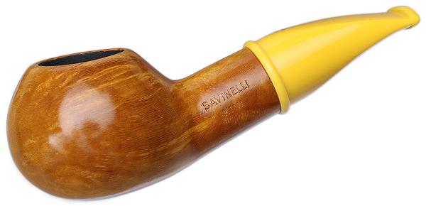 Savinelli Mini Smooth Yellow Stem (321) (6mm)