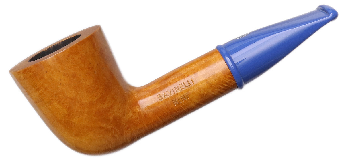Savinelli Mini Smooth Blue Stem (409) (6mm)
