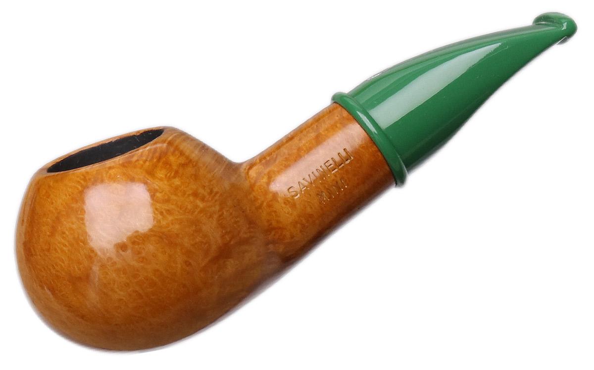 Savinelli Mini Smooth Green Stem (321) (6mm)