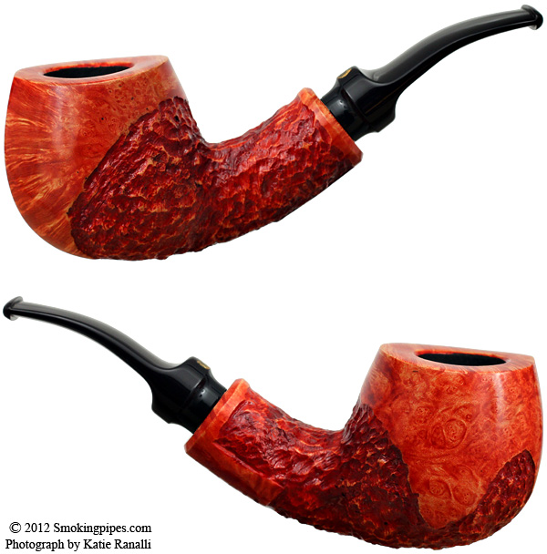 Crown Partially Rusticated Bent Billiard (Viking)