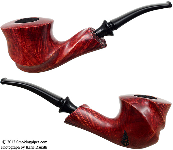 Feather Carved Smooth Freehand Bent Dublin (44)