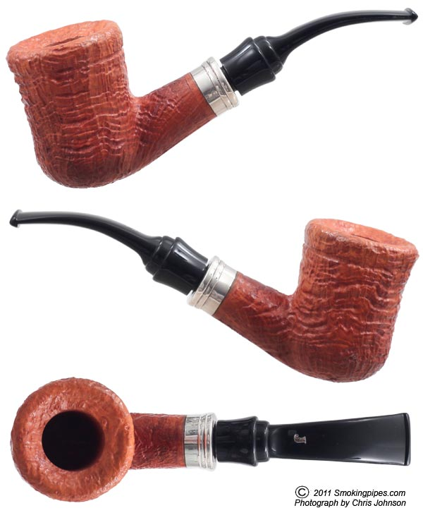 Picta Van Gogh Spongia Sandblasted Bent Dublin with Silver (S3) (01)