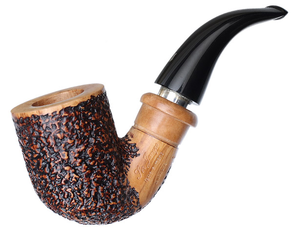Ser Jacopo Jucunda Rusticated Bent Billiard Delecta with Silver (R1)
