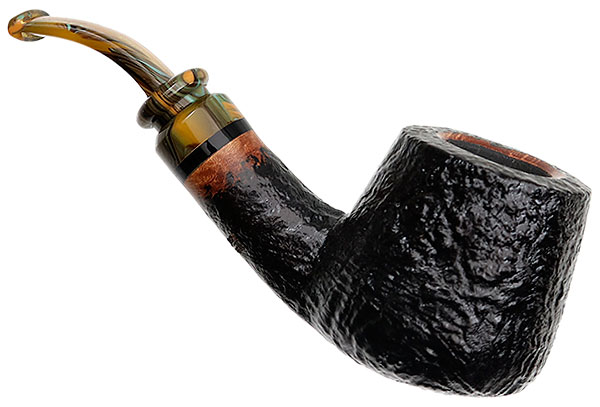 Neerup P. Jeppesen Handmade Ida Easy Cut Sandblasted Bent Billiard (2)