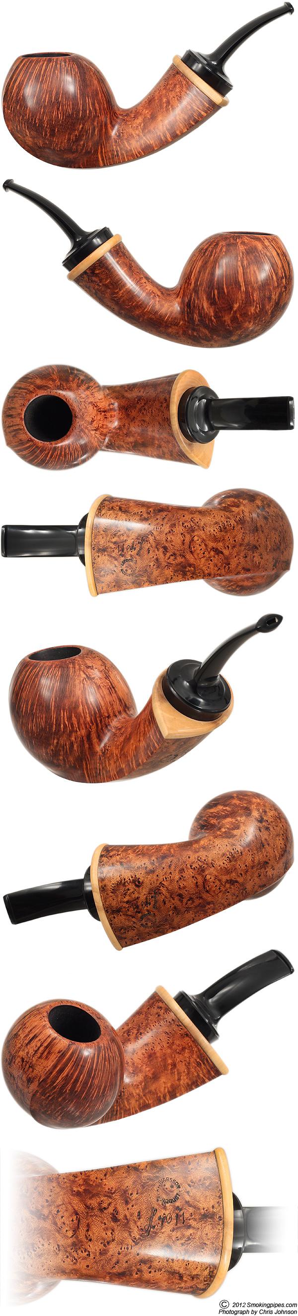 Lars Ivarsson Smooth Bent Apple with Boxwood (4011)