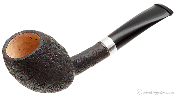 Peter Heeschen Sandblasted Bent Egg with Silver (A)