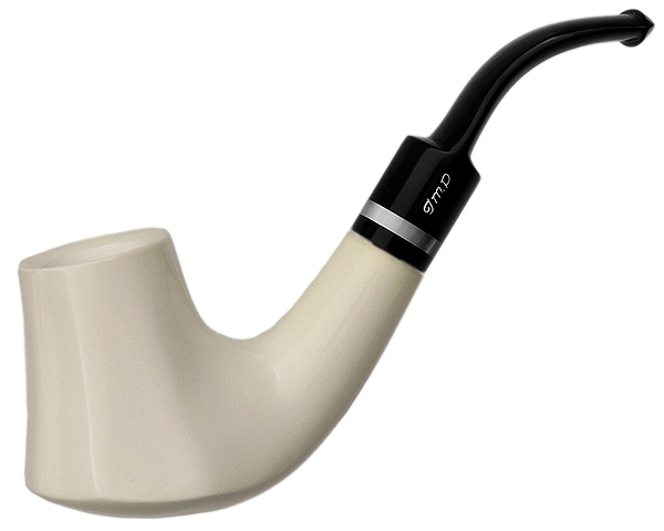 I.M.P. Meerschaum Smooth Paneled Volcano (with Case)