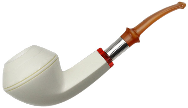 I.M.P. Meerschaum Smooth Bent Bulldog (with Pocket Case)