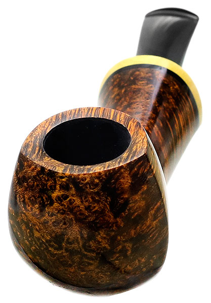 Peter Heding Smooth Long Shanked Bent Egg with Boxwood (Diamond)