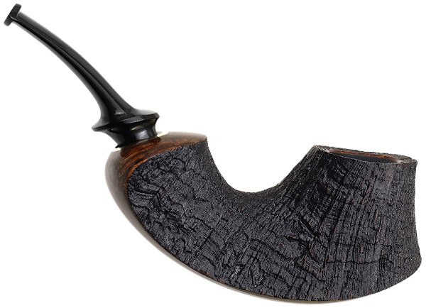 J. Alan Pipes Partially Sandblasted Surfing Volcano (1111)