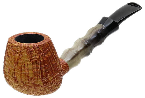 J. Alan Pipes Sandblasted Swan with Bamboo Carved Horn (1337)
