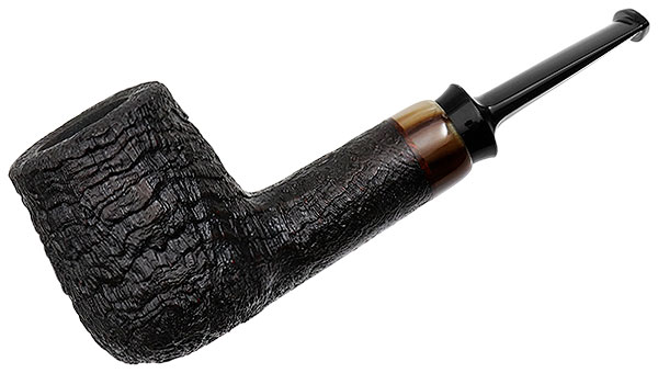 J. Alan Pipes Sandblasted Billiard with Horn (1361)