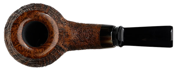 J. Alan Pipes Sandblasted Bent Apple with Horn (1409)