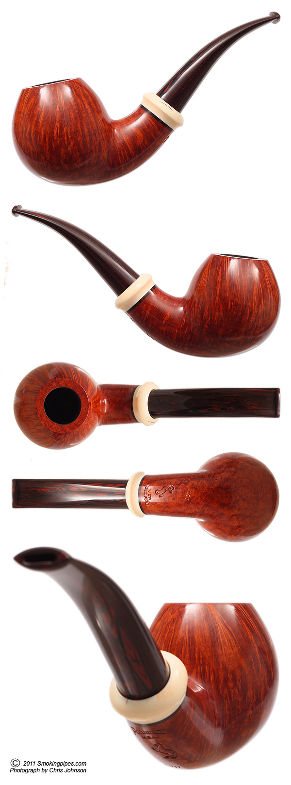 Smooth Bent Ball with Mastodon Ivory (Corbet)