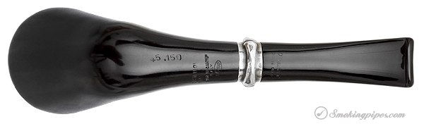 Castello Perla Nera Horn with Silver Bamboo Ring