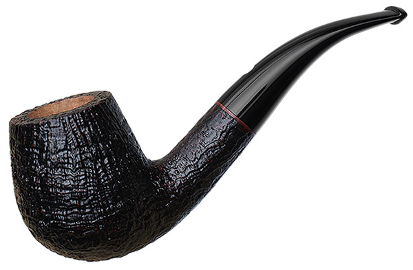 Claudio Cavicchi Black Sandblasted Bent Billiard