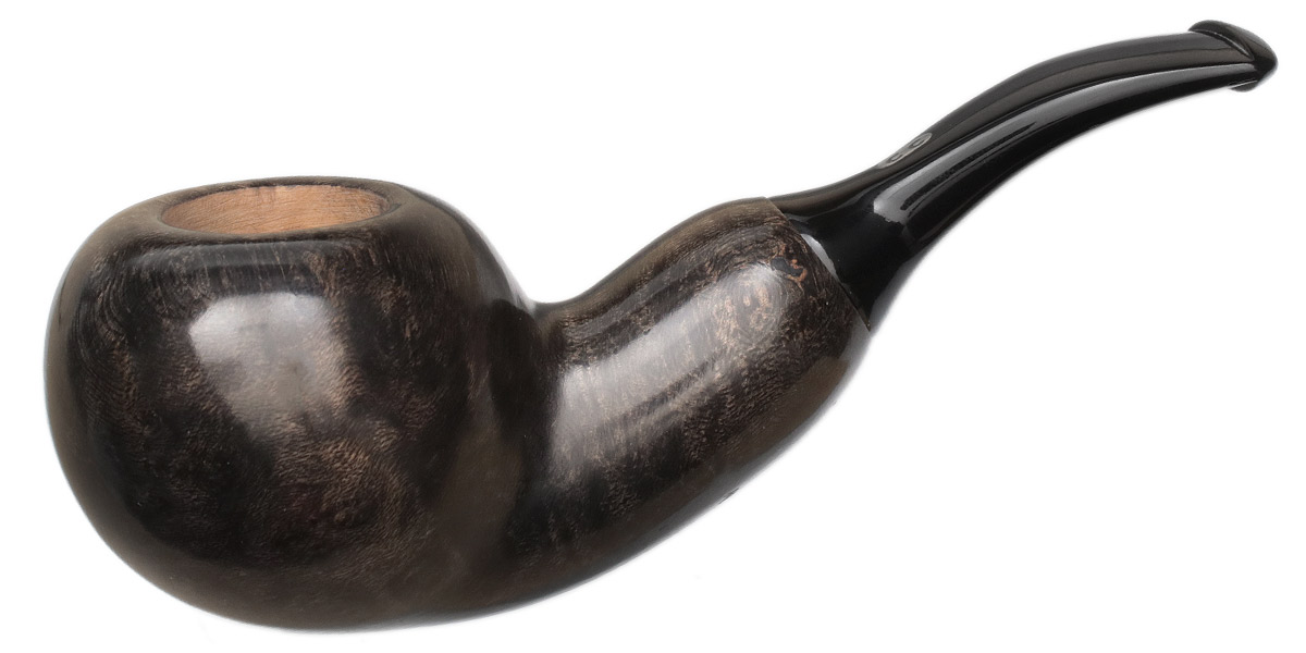 Chacom Grey Smooth Bent Apple Reverse Calabash