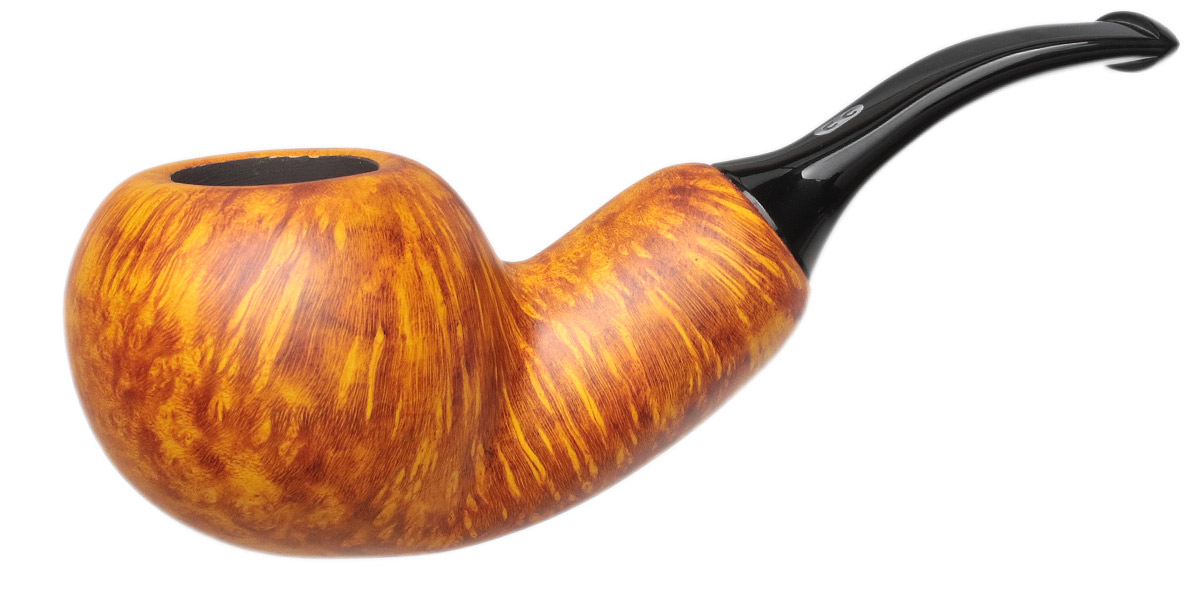 Chacom Orange Smooth Bent Apple Reverse Calabash