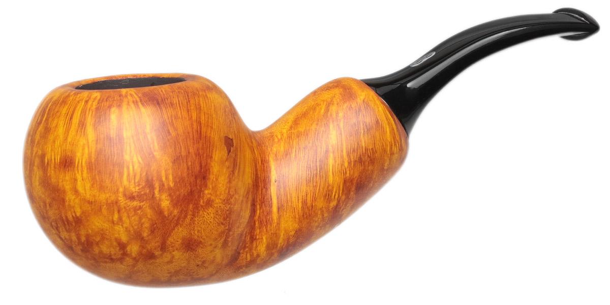 Chacom Orange Smooth Bent Apple Reverse Calabash
