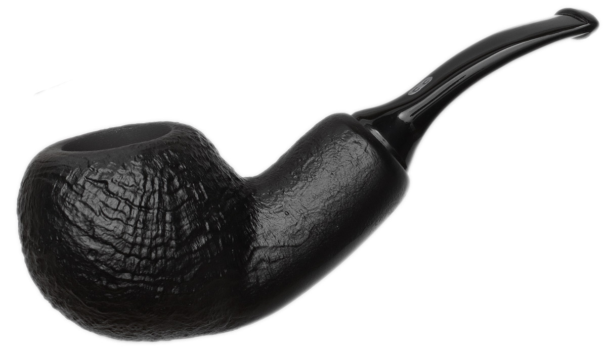 Chacom Black Sandblasted Bent Apple Reverse Calabash