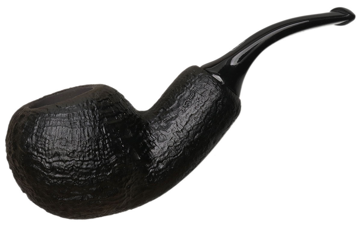 Chacom Black Sandblasted Bent Apple Reverse Calabash