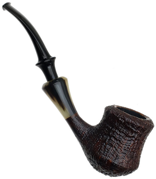 Chris Asteriou Sandblasted Vintage Bent Pot with Horn (35/17)