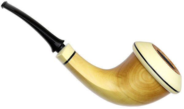 Chris Asteriou Smooth Boxwood Calabash with Holly (56/17)