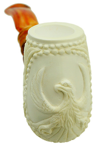 AKB Meerschaum Carved Bent Brandy (with Case)