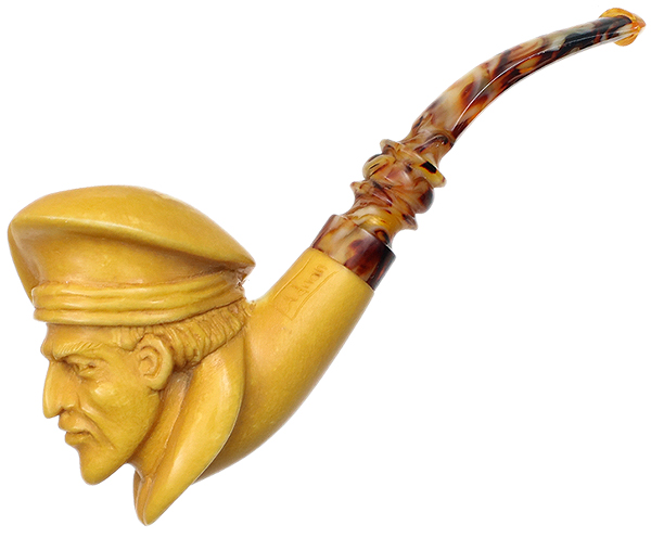 AKB Meerschaum Carved Painter (with Case)