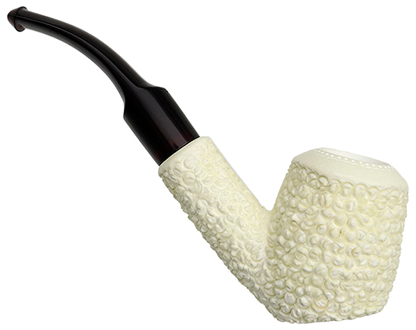 AKB Meerschaum Rusticated Bent Billiard (with Case)