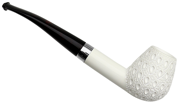 AKB Meerschaum Lattice Bent Brandy (with Case)