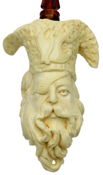 AKB Meerschaum Carved Pirate (with Case)