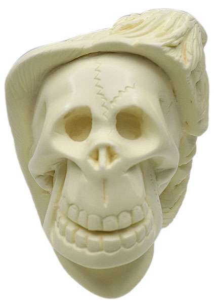 AKB Meerschaum Carved Skull with Eagle (with Case)