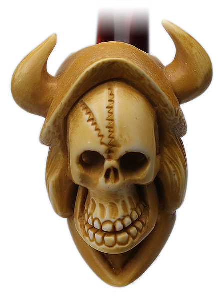 AKB Meerschaum Carved Skeleton with Horns (Ali) (with Case)
