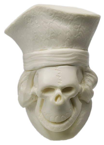 AKB Meerschaum Carved Skeleton with Magistrate