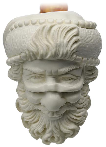 AKB Meerschaum Carved Smug Santa Claus (S. Cosgun) (with Case)