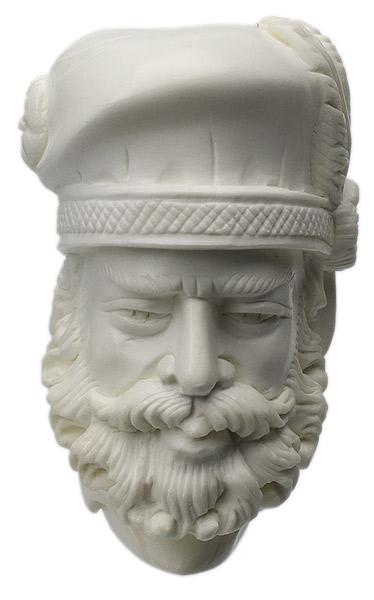 AKB Meerschaum Carved Bearded Artist (S. Cosgun) (with Case)