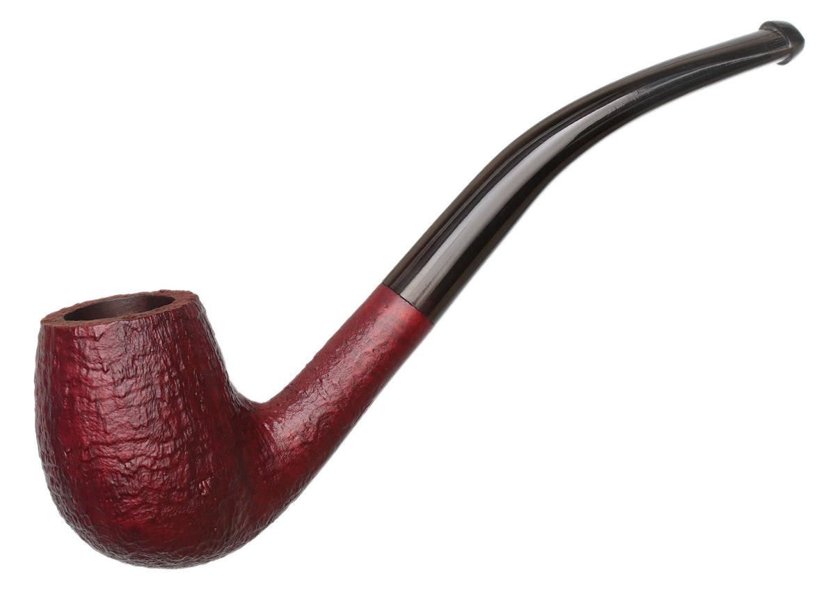 Ropp Ruby Sandblasted Bent Billiard