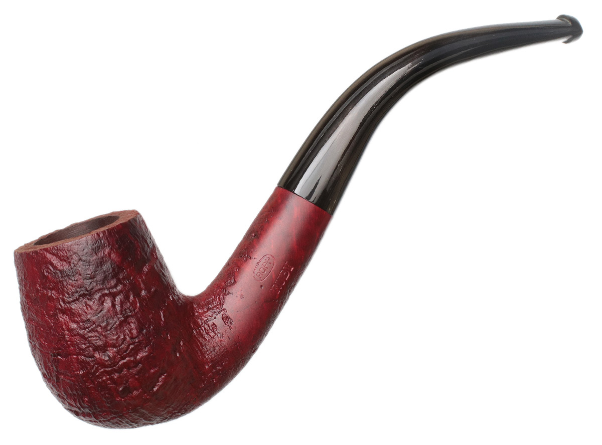 Ropp Ruby Sandblasted Large Bent Billiard