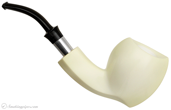WGM Meerschaum Smooth Blowfish with Silver (with Case)