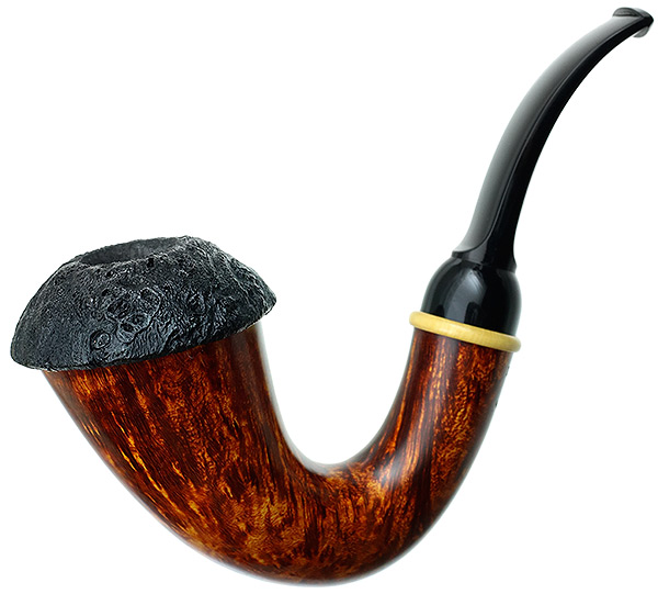 BriarWorks Light Smooth Magnetic Calabash with Dark Sandblasted Cap