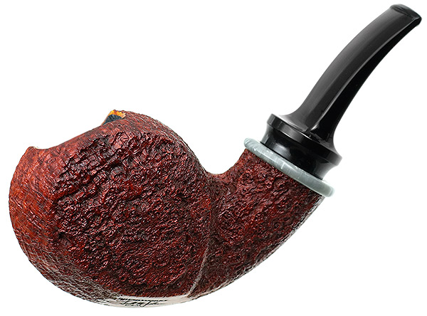 BriarWorks Crimson Sandblasted Blowfish with Antique Bakelite