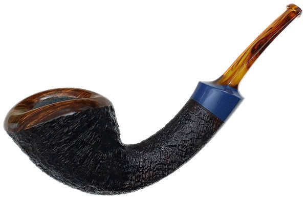 Jared Coles Partially Sandblasted Bent Dublin with Bakelite