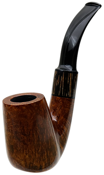 Silver Gray Smooth Oom Paul with Black Palm